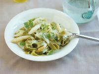 Green Tagliatelle with White Asparagus recipe