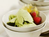 Green Tea Ice Cream with Fruit recipe
