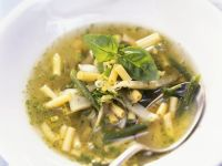 Green Vegetable Soup with Pesto recipe