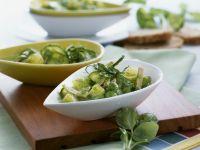 Green Vegetable Stew with Turkey Ham recipe