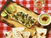 Grilled Cedar Plank Halibut with Avocado Crema recipe