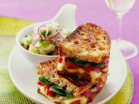 Grilled Cheese and Vegetables Sandwiches recipe