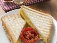 Grilled Cheese Sandwich with Tomato Garnish recipe