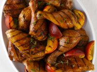Grilled Chicken and Peaches recipe