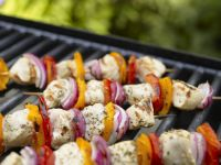 Grilled Chicken and Pepper Kebabs recipe