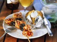 Grilled Chicken and Plum Skewers recipe