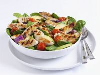Grilled Chicken and Tomato Salad recipe