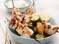 Grilled Chicken and Veg Skewers recipe