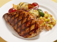 Grilled Chicken Breast with Tropical Salsa recipe