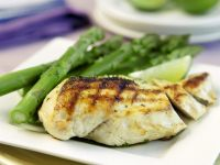 Grilled Chicken Breasts with Asparagus recipe