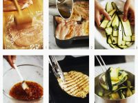 Grilled Chicken Breasts with Zucchini and Tomato Vinaigrette recipe