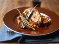 Grilled Chicken Vegetable and Chickpea Stew recipe