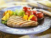 Grilled Chicken with Cherry Tomato Skewers recipe