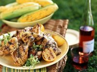 Grilled Chicken with Corn recipe