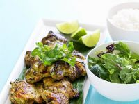 Grilled Chicken with Mixed Herb Salad recipe