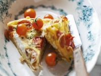 Grilled Egg and Soft Cheese Tart recipe