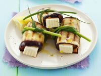 Grilled Eggplant Rolls with Feta Cheese recipe