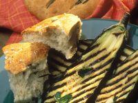 Grilled Eggplant with Flatbread recipe