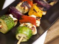 Grilled Cheese and Vegetable Skewers recipe