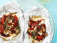 Grilled Feta Cheese with Sun-Dried Tomatoes recipe