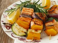 Grilled Fish and Vegetable Skewers recipe