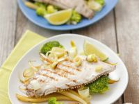 Grilled Flounder with Vegetables recipe
