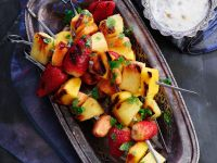 Grilled Fruit Skewers with Sauce recipe