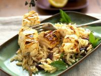 Grilled Halibut with Orzo recipe