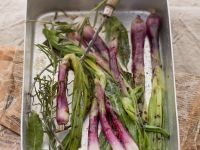 Grilled Herby Red Spring Onions recipe