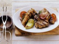 Grilled Lamb Chops with Vegetables recipe