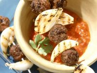 Grilled Lamb Meatball Skewers recipe
