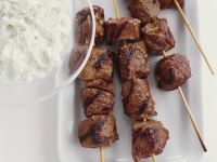 Grilled Lamb Skewers with Yogurt Sauce recipe