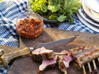 Grilled Lamb with Tomatoes recipe