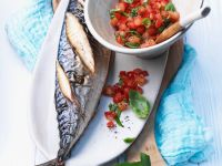 Grilled Mackerel with Tomato Salad recipe