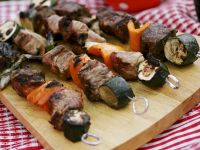 Grilled Meat and Vegetable Skewers recipe