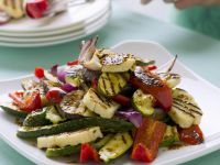 Grilled Mixed Vegetables and Cheese Slices recipe