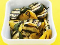 Grilled Mixed Zucchinis with Yellow Peppers recipe
