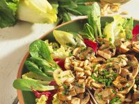 Grilled Mushrooms with Leafy Salad recipe