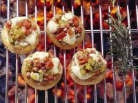 Grilled Mushrooms with Stuffing recipe
