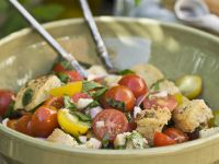 Cubed Bread Salad Bowl recipe