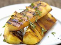 Grilled Pineapple with Honey, Rum and Basil recipe