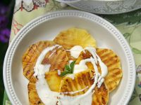 Grilled Pineapple with Sabayon recipe