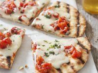 Grilled Pizza with Tomato and Mozzarella recipe
