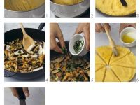 Grilled Polenta with Mushrooms recipe