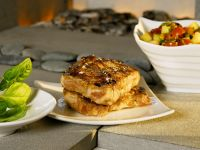 Grilled Pork with Tomato-cucumber Salsa recipe
