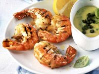 Grilled Prawns with Herb Sauce recipe