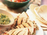 Grilled Quesadillas with Feta Cheese and Tomatoes