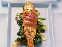 Grilled Red Mullet with Spinach recipe