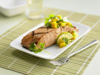Grilled Salmon Fillet with Mango Salsa recipe