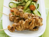 Grilled Salmon Skewers with Sesame recipe